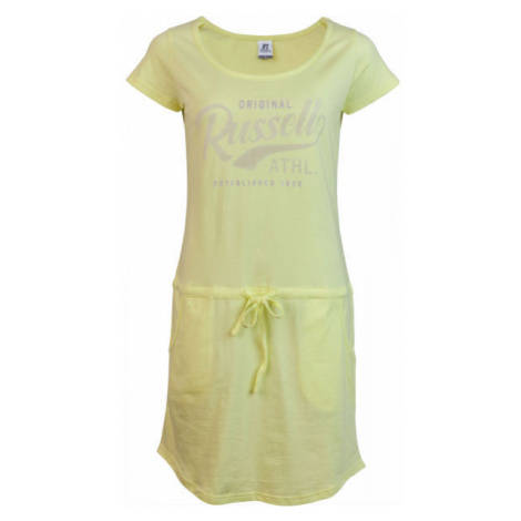 Russell Athletic ŠATY DÁMSKÉ ŽLUTÉ žlutá - Dámské šaty