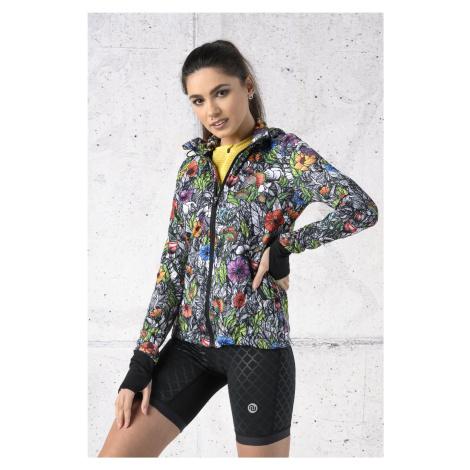 Nessi Sportswear Celorozepínací dámská bunda s kapucí HRDK-13M4 Mosaic Nature