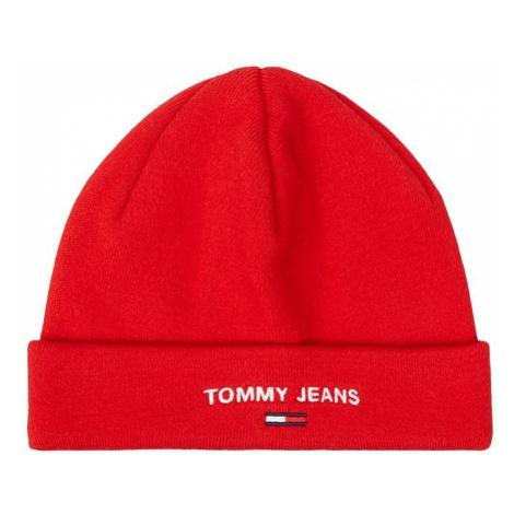 Tommy Hilfiger Tommy Jeans dámská červená čepice TJW SPORT BEANIE