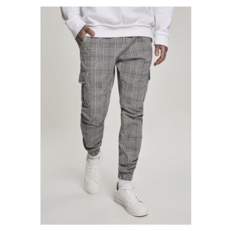 Kalhoty Urban Classics AOP Glencheck Cargo Jog Pants