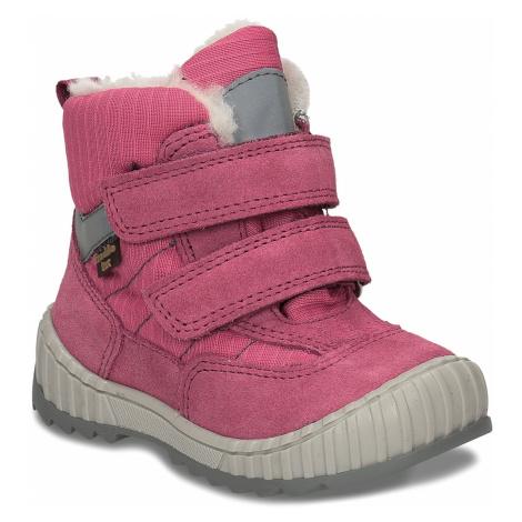 Růžová dívčí zimní obuv s kožíškem Froddo