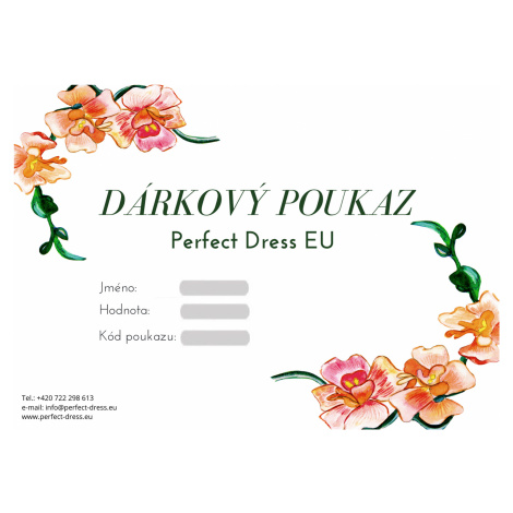 Dárkový Poukaz Perfect Dress EU - Skvělý dárek pro blízké