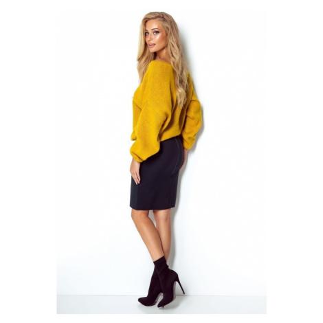 Dámský krátký oversize svetr v jasných barvách I299 Fimfi