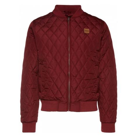 Urban Classics Přechodná bunda 'Diamond Quilt' burgundská červeň