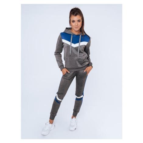 Women's tracksuit set AVERY dark gray Dstreet AY0619