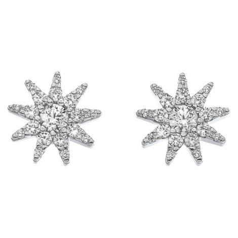 Hot Diamonds Třpytivé stříbrné náušnice Emozioni Stella EE037