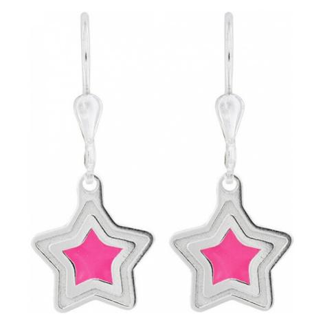Praqia Dívčí stříbrné náušnice Vzdálená hvězda NA6026_RH