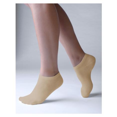 Ponožky Gino bambusové béžové S
