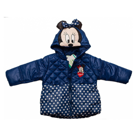 MINNIE MOUSE MODRÁ BUNDA S KAPUCÍ Disney