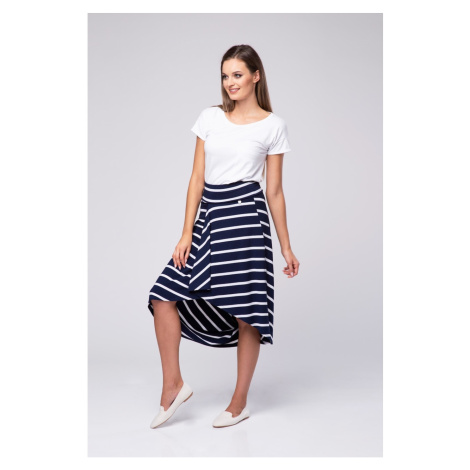 Look Made With Love Woman's Skirt 17 Saint Tropez Navy Blue/White