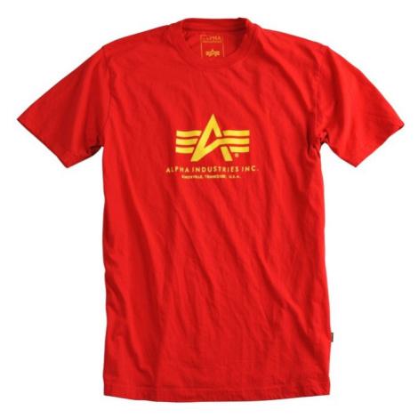 Alpha Industries Tričko Basic T-Shirt speed red