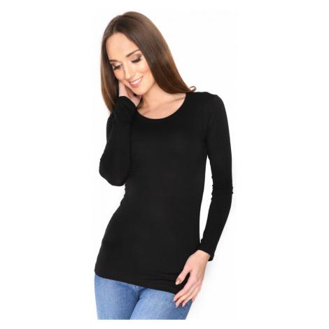 Černé tričko s dlouhým rukávem Oxyd