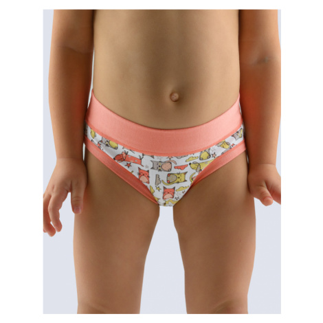 GINA Dívčí kalhotky klasické 20015-LERMxB rosé-bílá