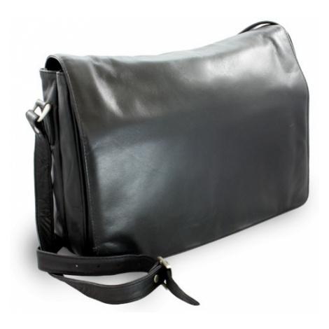 Černá dámská kožená klopnová kabelka Coralies Arwel