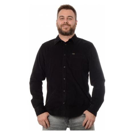 Manšestrová košile Lee pánská černá