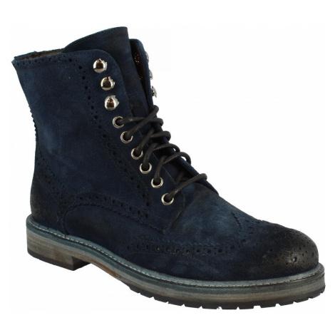 Leonardo Shoes 4730B BLU NAVY Modrá