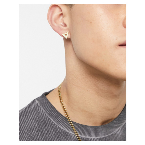 River Island cut out triangle stud earrings in gold