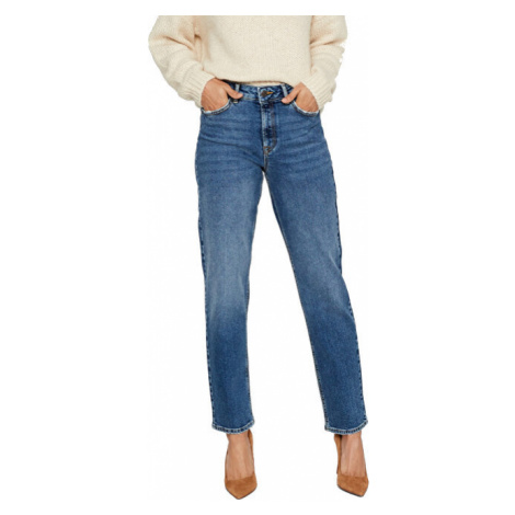 Vero Moda Dámské relaxed straight fit džíny VMSARA Medium Blue Denim 30/32