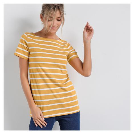 Blancheporte Pruhované tričko medová/bílá