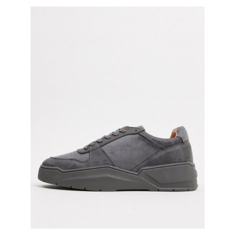 River Island colour drench chunky trainers in grey-Green