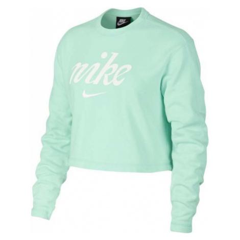 Nike NSW CREW CROP WSH zelená - Dámská mikina