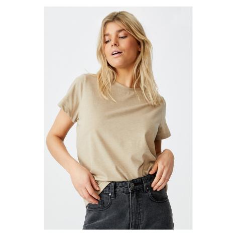 Dámské basic triko s krátkým rukávem Crew béžová Cotton On