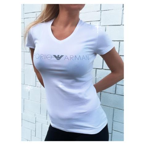 Dámské tričko Emporio Armani 163321 1P227 bílá   bílá