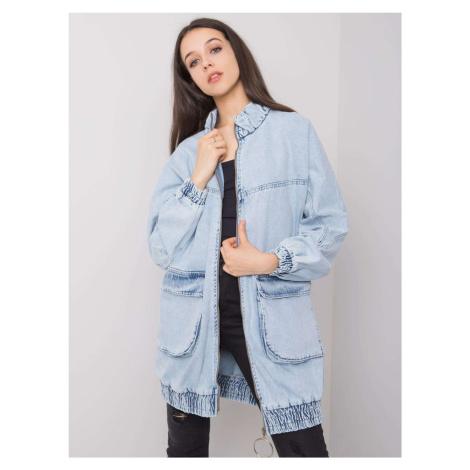 RUE PARIS Modrá dlouhá džínová bunda FPrice