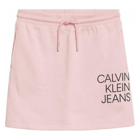Calvin Klein Jeans Sukně světle růžová / černá
