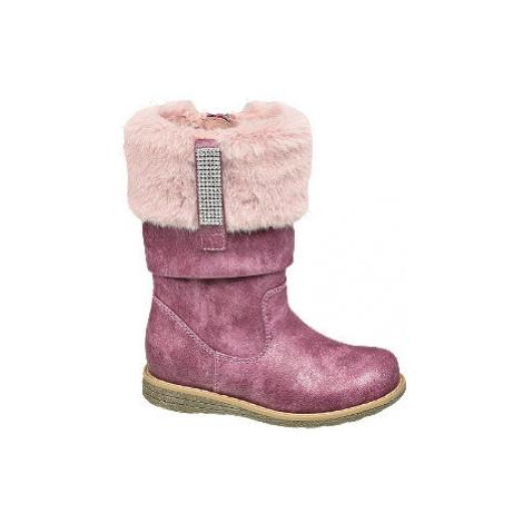Tmavě růžové dívčí kozačky Cupcake Couture