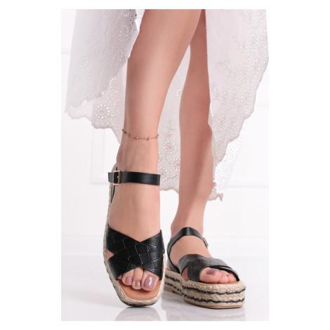 Černé platformové sandály Maylis Ideal