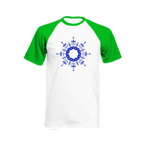 Pánské tričko Baseball Kulatý folklorní vzor