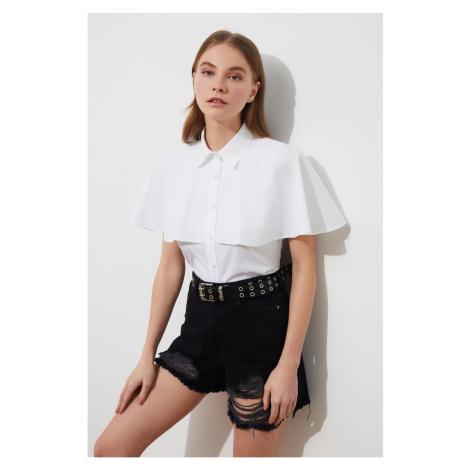 Trendyol Ecru Collar Detailed Shirt