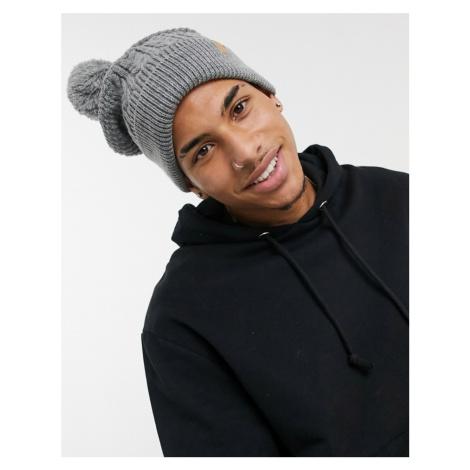 Boardmans knitted bobble hat-Grey