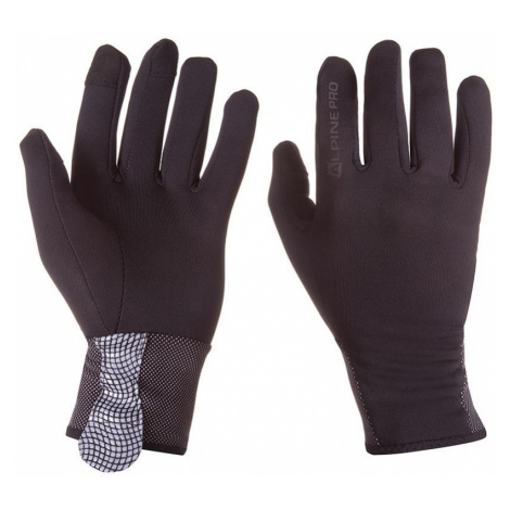 ALPINE PRO DAG Unisex softshellové rukavice MGLP021990 černá