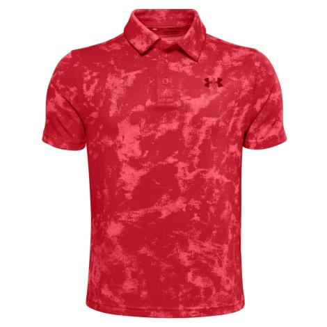 Dětské tričko Polo Under Armour Playoff Polo Červená