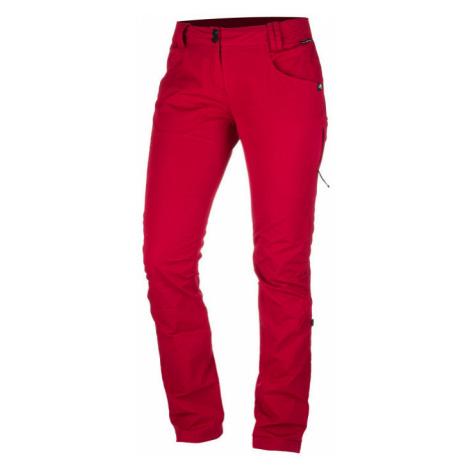 NORTHFINDER ENGRITA Dámské outdoorové kalhoty NO-4594OR307 tmavě červená