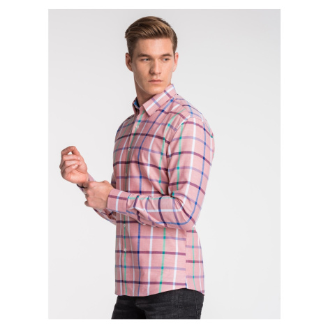 Ombre Clothing Men's shirt with long sleeves K493