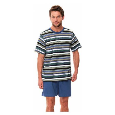 Pánské krátké pyžamo Viktor s pruhy