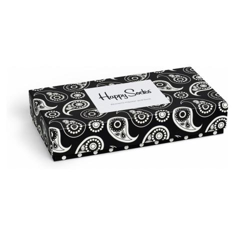 Dárkový box ponožek a kalhotek Happy Socks Black & White - 2 páry