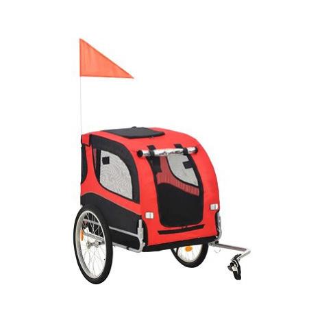 Shumee Vozík za kolo pro psa červeno-černý