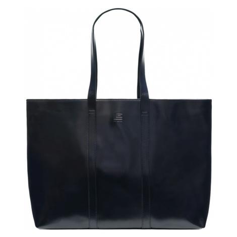 Kožená kabelka Guy Laroche přes rameno - černá