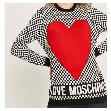 Černobílý svetr - LOVE MOSCHINO