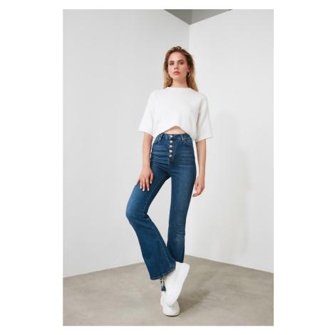 Dámské rifle Trendyol Flare Jeans