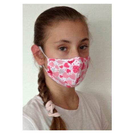 Bavlněná antibakteriální junior rouška za uši Mix