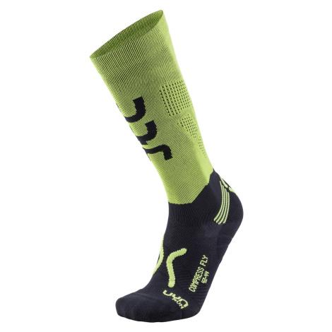 Ponožky RUN COMPRESSION FLY - zelená/černá /41