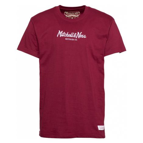 Mitchell & Ness Tričko 'PINSCRIPT' burgundská červeň / bílá