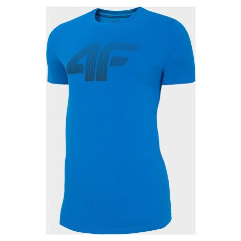 Pánské bavlněné tričko 4F TSM302 Modré
