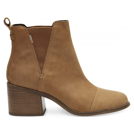 Tan Leather Women's Esme heel Toms