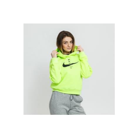 Nike W NSW Swoosh Hoodie Fleece BB neon zelená